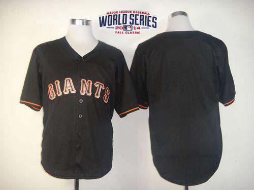 Giants Black 2014 World Series Cool Base Jerseys