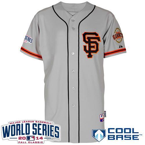Giants Blank Grey 2014 World Series Cool Base Road 2 Jerseys