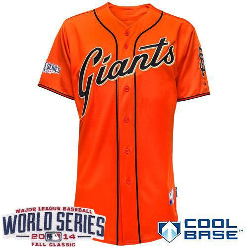 Giants Blank Orange 2014 World Series Cool Base Jerseys