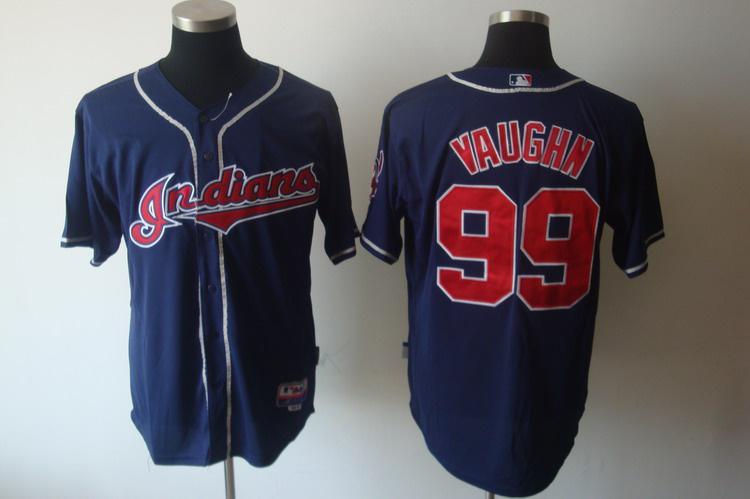 Indians 99 Ricky Vaughn Blue Jerseys