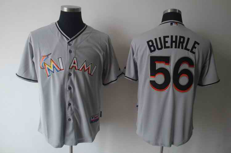 Marlins 56 BUEHRLE grey Jerseys