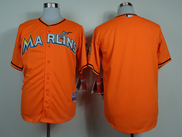 Marlins Blank Orange Cool Base Jerseys
