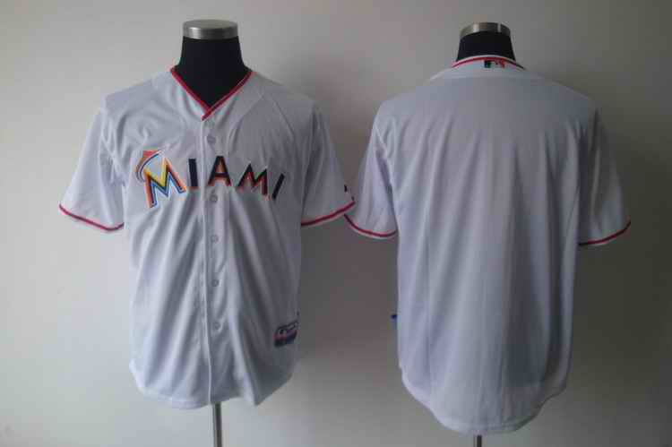 Marlins White blank white jerseys