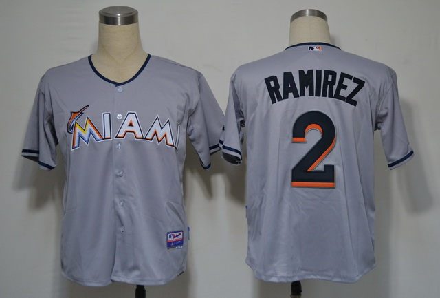 Miami Marlins 2 Ramirez Grey 2012 Jerseys