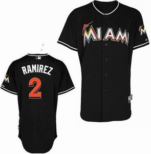Miami Marlins 2 Ramirez black Jerseys