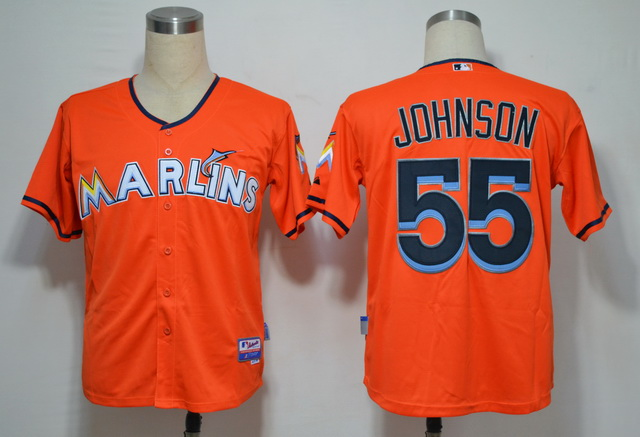 Miami Marlins 55 Johnson Orange 2012 Jerseys
