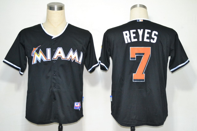 Miami Marlins 7 Jose Reyes Black 2012 Jerseys