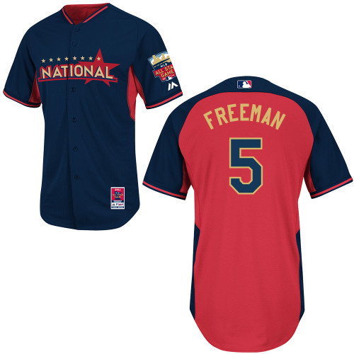 National League Braves 5 Freeman Blue 2014 All Star Jerseys