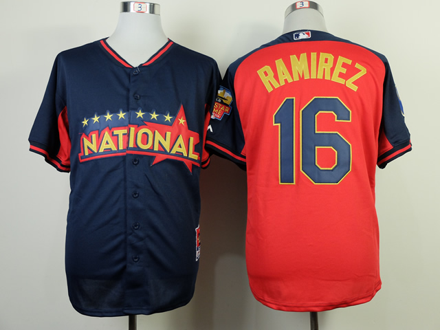 National League Brewers 16 Ramirez Blue 2014 All Star Jerseys