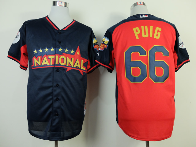 National League Dodgers 66 Puig Blue 2014 All Star Jerseys