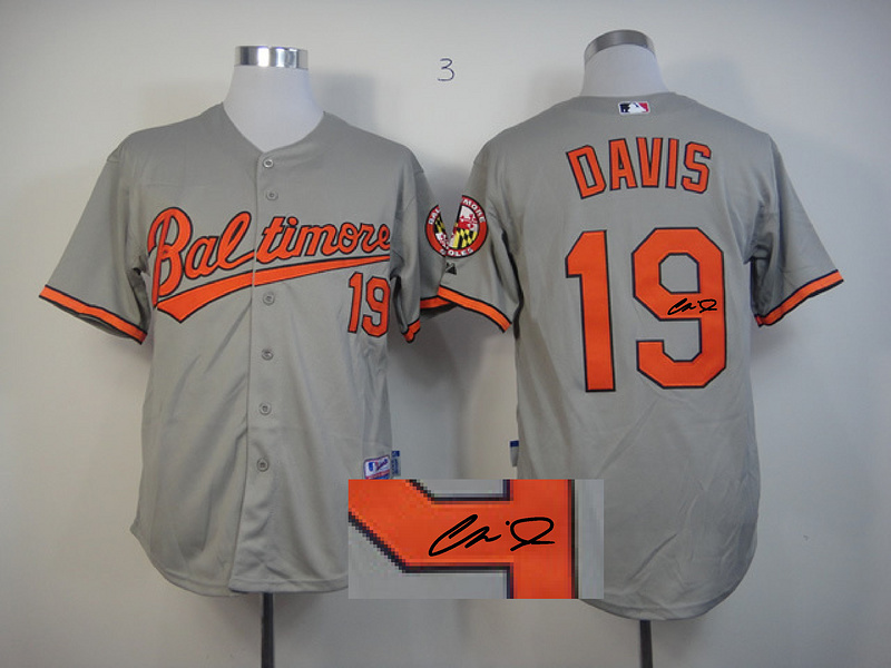Orioles 19 Davis Grey Signature Edition Jerseys