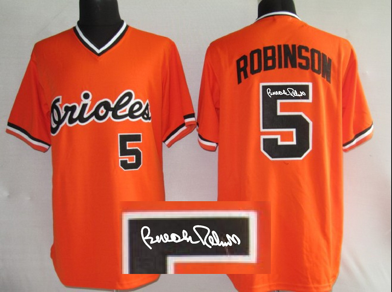 Orioles 5 Robinson Red Signature Edition Jerseys