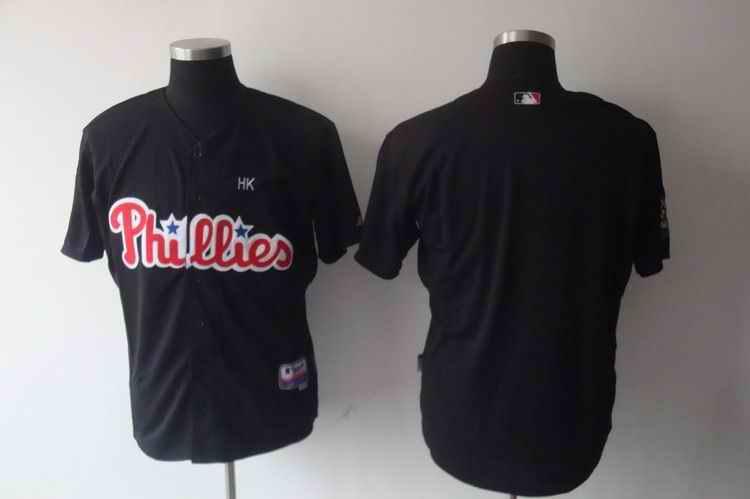 Phillies Blank black Jerseys