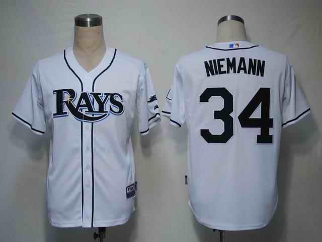 Rays 34 Niemann white Jerseys