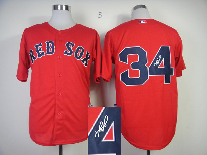Red Sox 34 Ortiz Red Signature Edition Jerseys