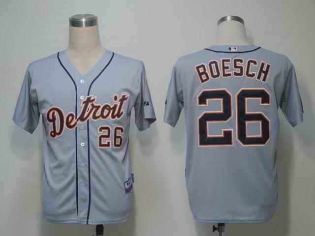Tigers 26 Boesch Grey Jerseys