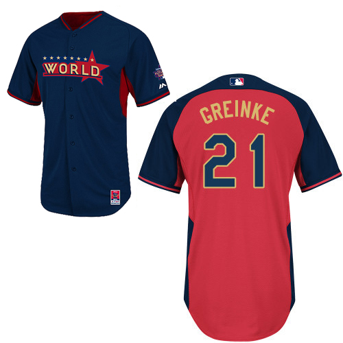 World 21 Greinke Blue 2014 Future Stars BP Jerseys