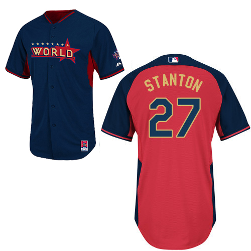 World 27 Stanton Blue 2014 Future Stars BP Jerseys