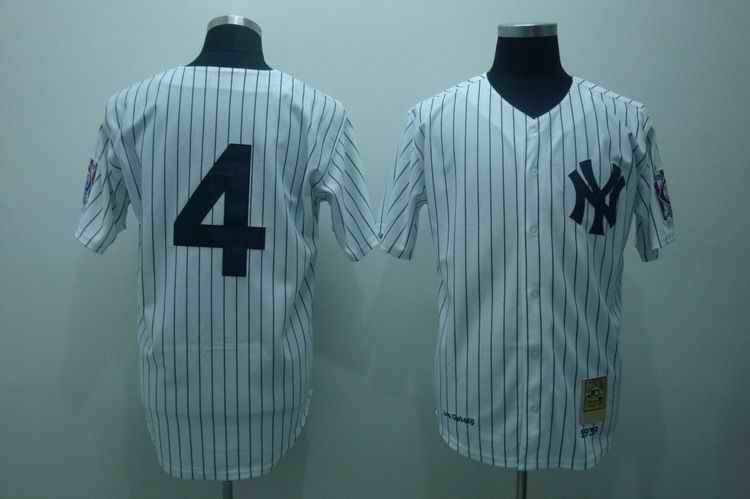 Yankees 4 Lou Gehrig white Jerseys