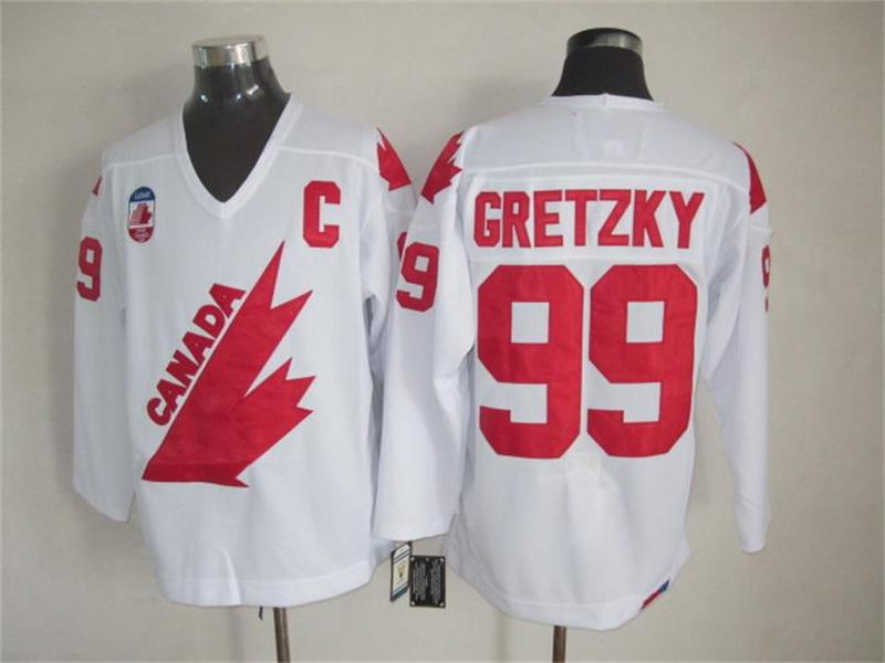 Canada 99 Gretzky White Throwback Jersey
