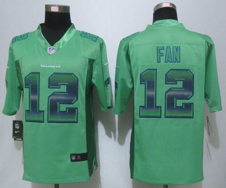 Nike Seahawks 12 Fan Green Pro Line Fashion Strobe Jersey