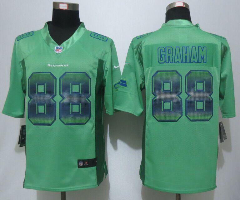 Nike Seahawks 88 Jimmy Graham Green Pro Line Fashion Strobe Jersey