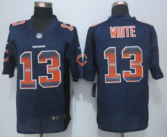 Nike Bears 13 Kevin White Navy Blue Pro Line Fashion Strobe Jersey