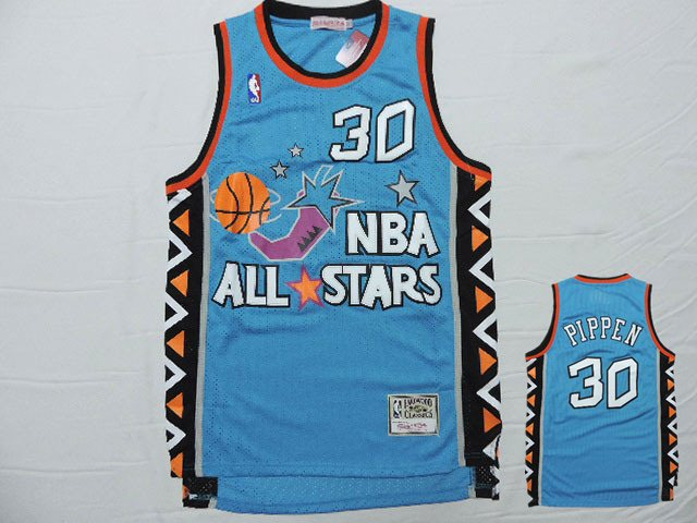 1996 All Star 30 Scottie Pippen Teal Hardwood Classics Jersey