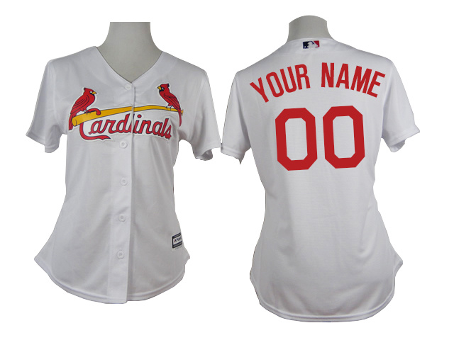 Cardinals White Customized Women New Cool Base Jersey