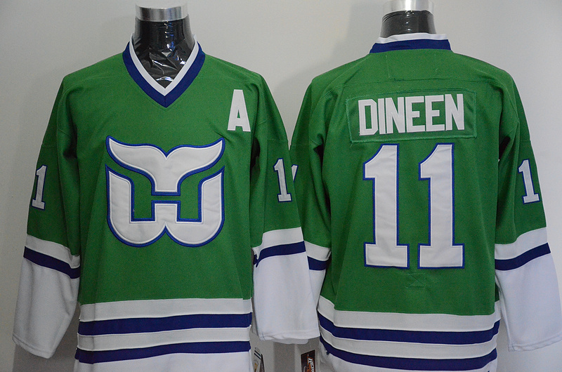 Whalers 11 Kevin Dineen Green CCM Jersey