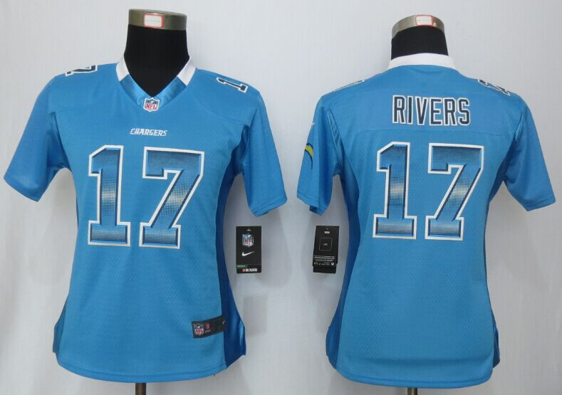 Nike Chargers 17 Philip Rivers Blue Pro Line Fashion Strobe Women Jersey
