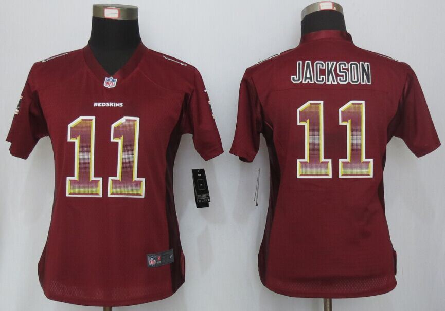 Nike Redskins 11 DeSean Jackson Red Pro Line Fashion Strobe Women Jersey