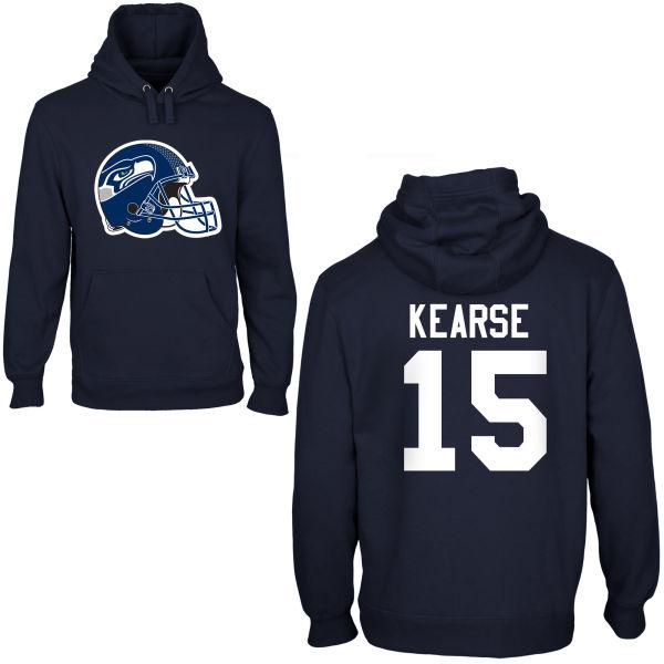 Nike Seahawks 15 Kearse Navy Blue Pullover Hoodies