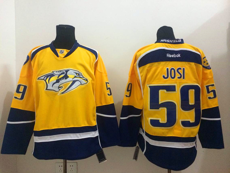 Predators 59 Josi Yellow Jerseys