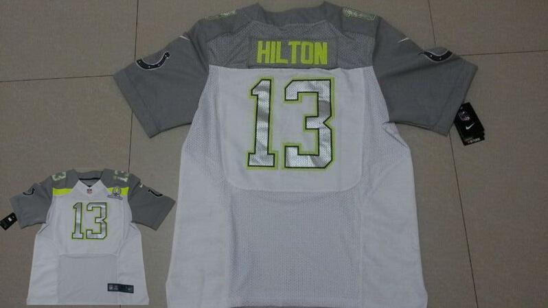 Nike Colts 13 Hilton White 2015 Pro Bowl Jerseys
