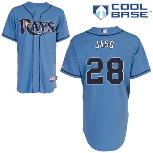 Rays 28 Jaso Light Blue Cool Base Jerseys