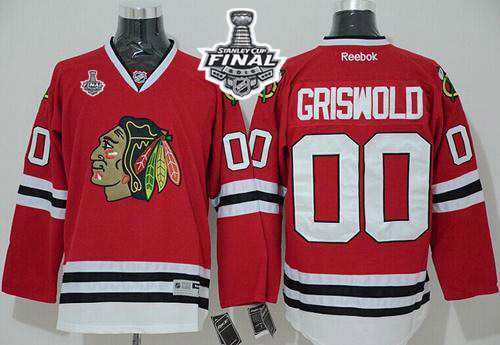 Blackhawks 00 Clark Griswold Red 2015 Stanley Cup Jersey