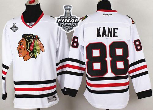 Blackhawks 88 Patrick Kane White 2015 Stanley Cup Jersey