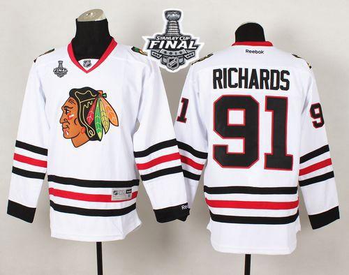 Blackhawks 91 Brad Richard White 2015 Stanley Cup Jersey