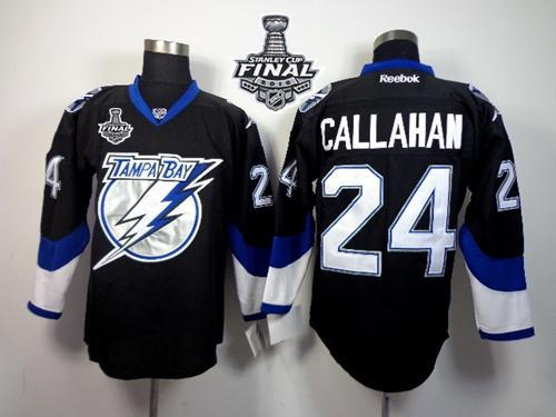 Lightning 24 Ryan Callahan Black 2015 Stanley Cup Jersey