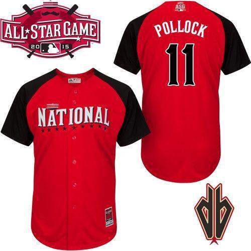 National League Diamondbacks 11 Pollock Red 2015 All Star Jersey