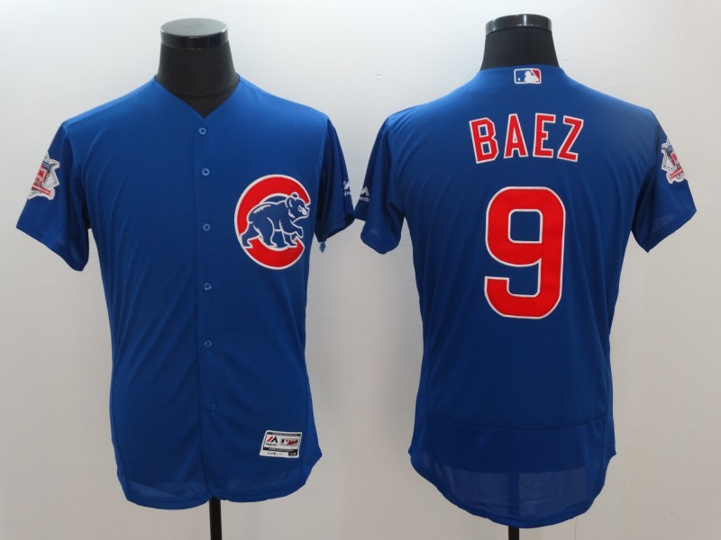 Cubs 9 Javier Baez Royal National League 16-Star Flexbase Jersey