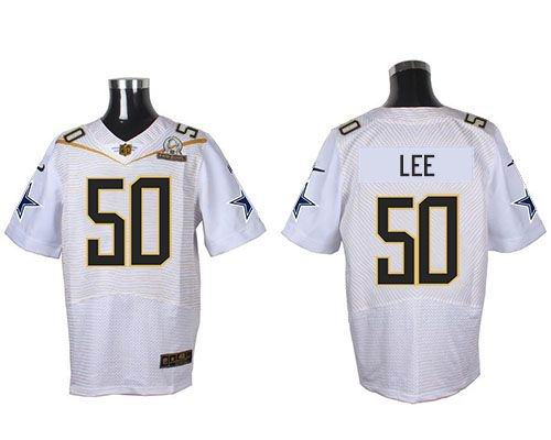 Nike Cowboys 50 Sean Lee White 2016 Pro Bowl Elite Jersey