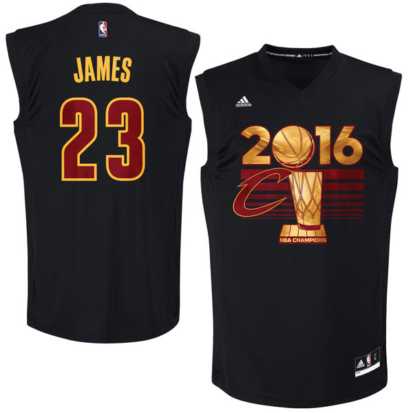 Cavaliers 23 Lebron James Black 2016 NBA Finals Champions Jersey