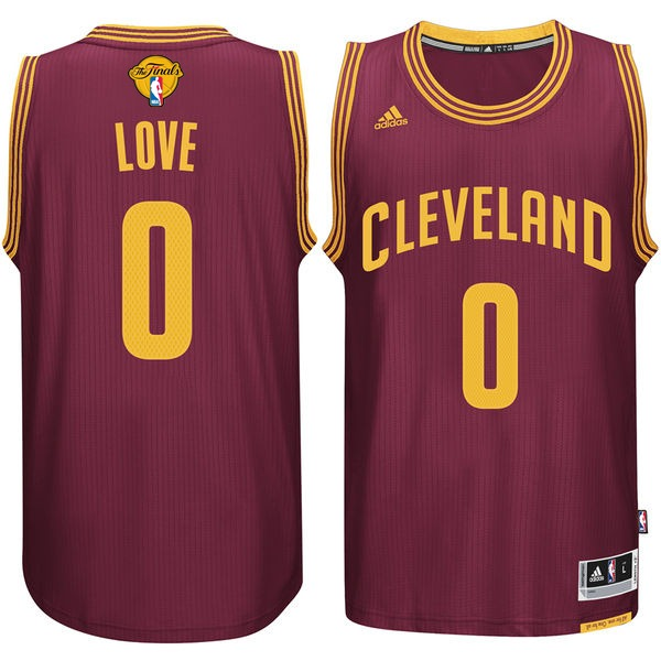 Cavaliers 0 Kevin Love Burgundy 2017 NBA Finals Swingman Jersey