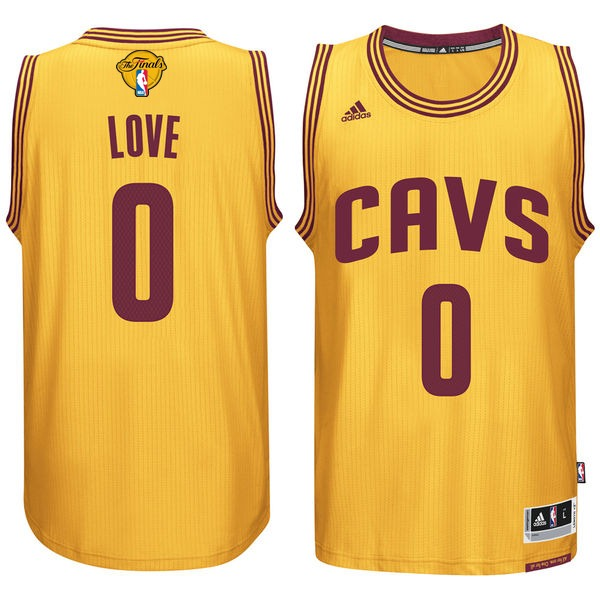 Cavaliers 0 Kevin Love Gold 2016 NBA Finals Swingman Jersey