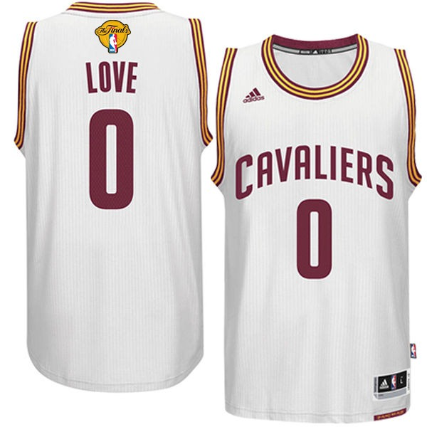 Cavaliers 0 Kevin Love White 2017 NBA Finals Swingman Jersey
