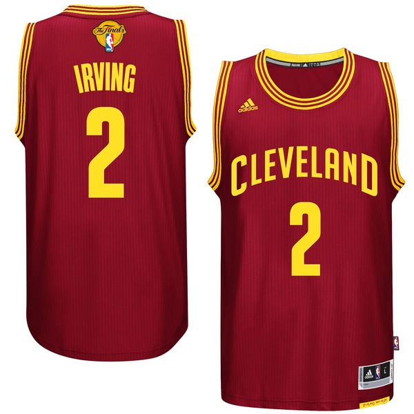 Cavaliers 2 Kyrie Irving Burgundy 2016 NBA Finals Swingman Jersey