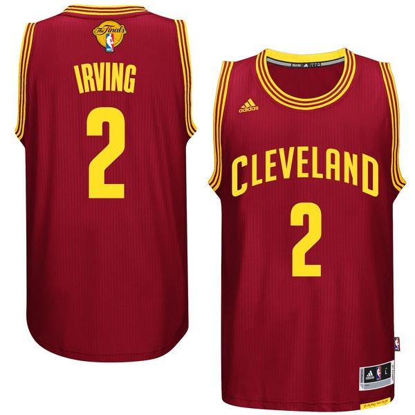 Cavaliers 2 Kyrie Irvin Burgundy 2017 NBA Finals Swingman Jersey