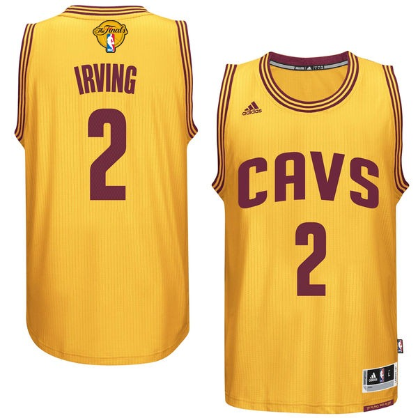 Cavaliers 2 Kyrie Irving Gold 2016 NBA Finals Swingman Jersey